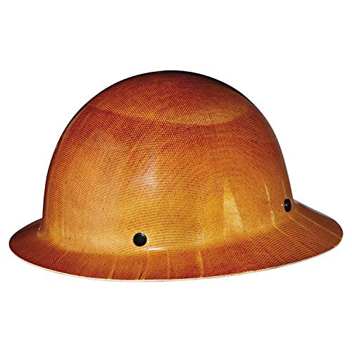 MSA Tan Skullgard Hard Hat with Staz-On Suspension and Full Brim 454664
