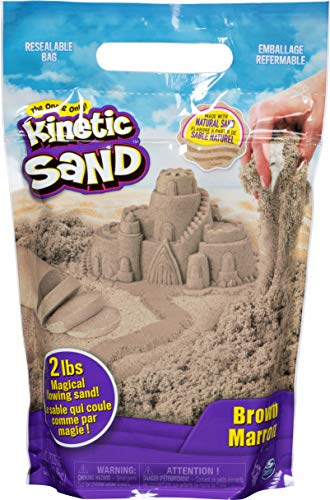 Kinetic Sand The Original Moldable Sensory Play Sand, Brown, 2 Lb (6053516)