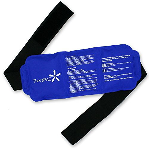 Pain Relief Flexible Ice Pack for Injuries by TheraPAQ | Hot & Cold Therapy Reusable Gel Pack/Heat Wrap - Great for Back, Waist, Shoulder, Neck, Ankle, KneeandHip (Large Pack:14' X 6')