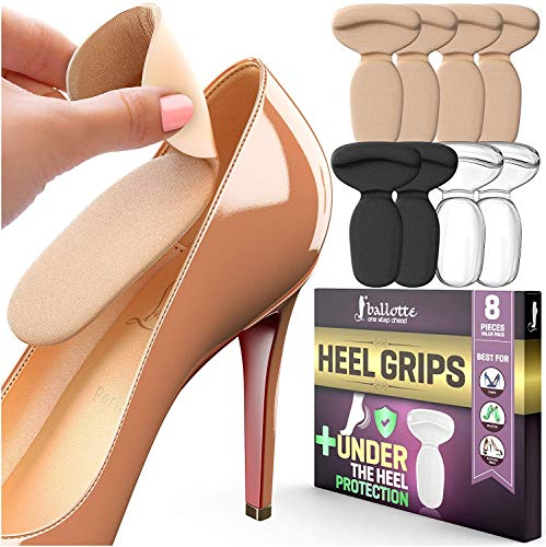 Reusable Heel Inserts for Women and Men [Extra Soft Heel Protectors] Add Comfort and Extra Volume for Loose Shoes, Self-Adhesive and Shock Absorbing Heel Pads