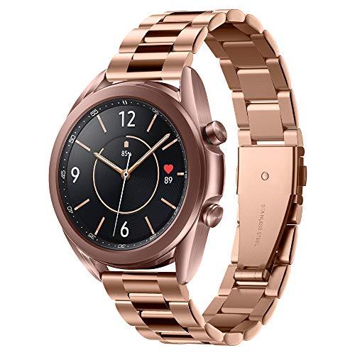 Spigen Modern Fit Designed For Samsung Galaxy Watch 3 41mm Band (2020) / Galaxy Watch Active 1&2 (2019) / Galaxy Watch 42mm (2018) / Gear S2 Classic, 20mm Smartwatch Band - Rose Gold
