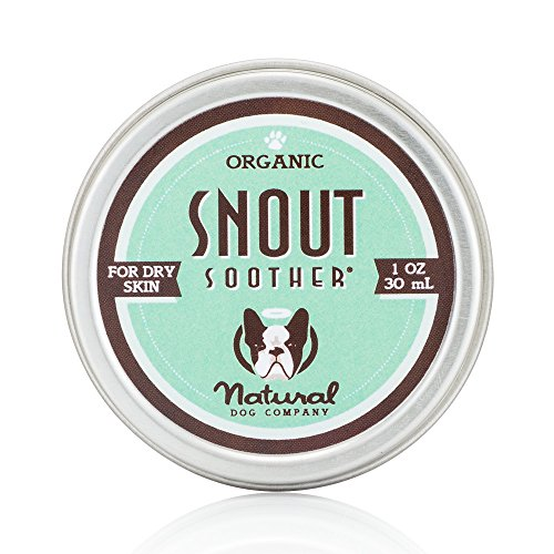 Natural Dog Company – Snout Soother | All-Natural Remedy for Chapped, Crusty, and Dry Dog Noses | Veterinarian Recommended – 1 Oz Tin