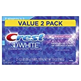 Crest 3D White Whitening Toothpaste, Radiant Mint, 3.5oz, Twin Pack