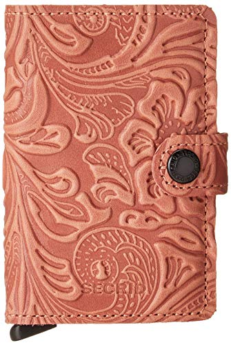 Secrid Mini Wallet Genuine Leather Ornament Rose Safe Card Case max 12 cards