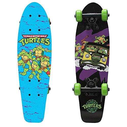 PlayWheels Teenage Mutant Ninja Turtles 21' Wood Cruiser Skateboard, Turtles on the Go