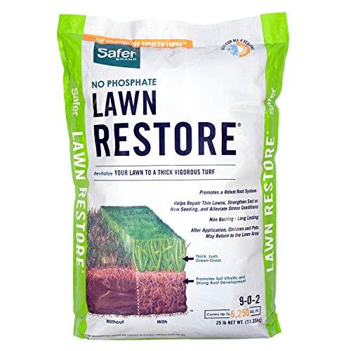 Safer Brand 9334 Lawn Restore Fertilizer – 25 lb