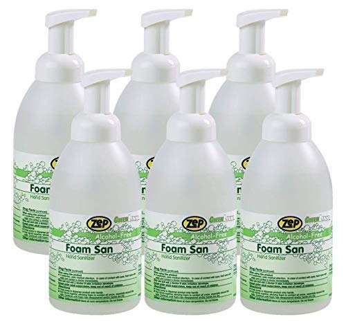 Zep Foaming Hand Sanitizer (500 mL Case of 6) - Odor Free Formula Made in USA (88004)