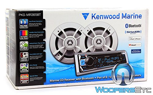 Kenwood PKG-MR362BT Marine CD Receiver with Bluetooth and 6.5' 2 Way Speakers Package