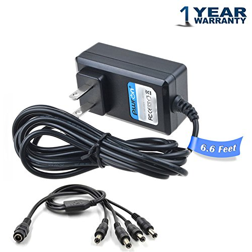 PwrON AC/DC Adapter for Lorex LH030 ECO Blackbox 3 Series LH03162TC10PM Blackbox3 Surveillance Recorder DVR Cameras (4-in-1 Power Adapter for 4Pack Camera Use Only) Power Supply Cord