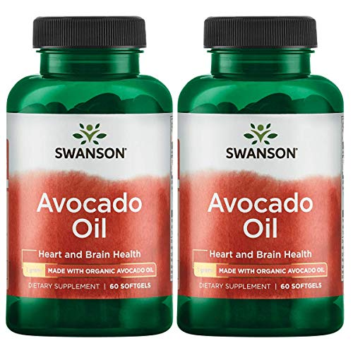 Swanson Avocado Oil Made with Organic Avocado Oil 1 g 60 Sgels 2 Pack
