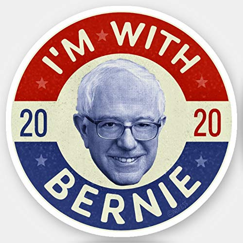 Presidential Election 2020 Decal Stickers for Cars Window Decal Bernie Sanders President 2020 Democrat Photo Retro Sticker Political Campaign Bumper Sticker Auto Decal for USA President 2020, 7''