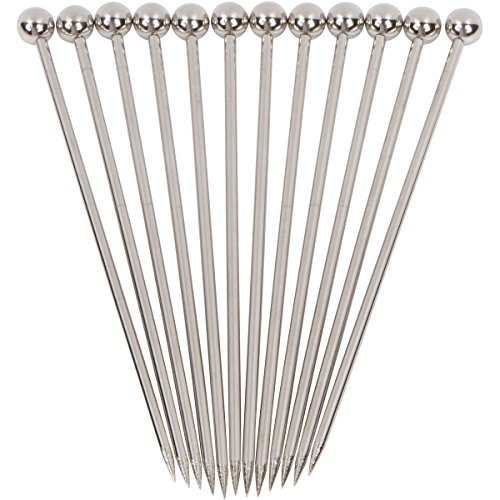 Stainless Steel Cocktail Picks - 4' (12pc Set)