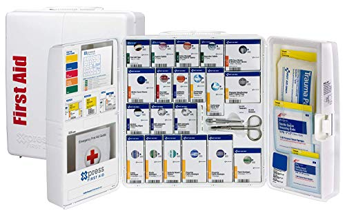 Xpress First Aid 50 Person Large Plastic SmartCompliance First Aid Cabinet with Medications