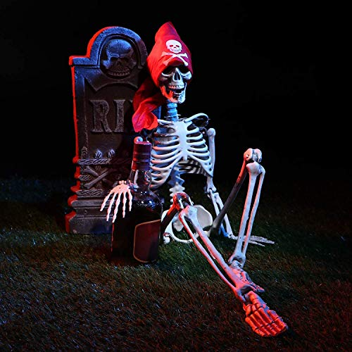 35' Posable Halloween Skeleton,Life Size Plastic Skeleton with Movable/Posable Joints-Perfect for Halloween Decorations/Party Favors