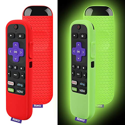 Silicone Protective Soft Cases Compatible with TCL Roku TV Remote Cover & Streaming Stick 3600R Remote Control, Honey Comb Series, Light Weight Shock Proof Silicone for Roku Replacement Remote Cover