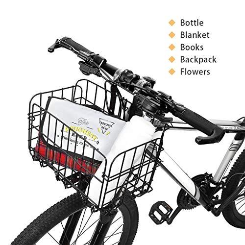 MOYCK Foldable Detachable Bike&Kitchen Baskets Lift-Off Front Rear Bicycle Accessories for Kids Women (Black, M)
