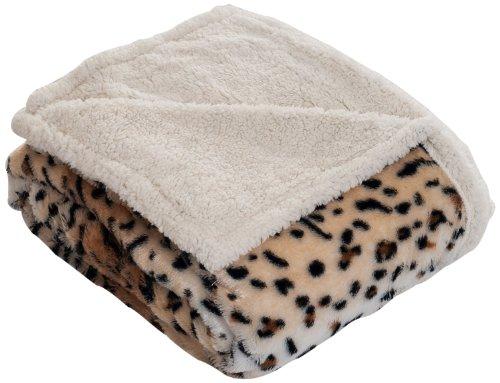 Lavish Home Tiger Throw Blanket-Fleece Sherpa