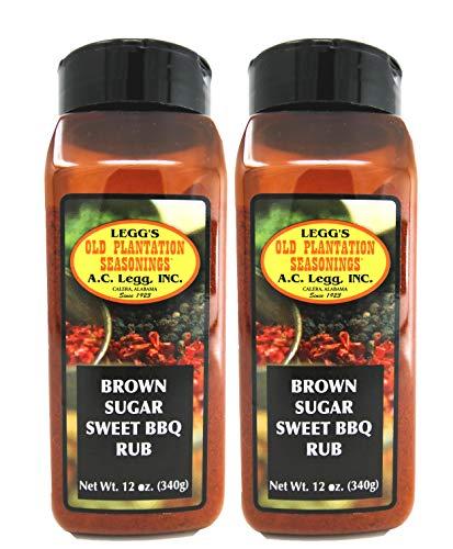 A.C. Legg - Brown Sugar Sweet BBQ Rub 12 oz Shaker - 2 Pack