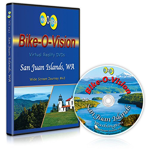 Bike-O-Vision - Virtual Cycling Adventure - San Juan Islands, WA - Perfect for Indoor Cycling and Treadmill Workouts - Cardio Fitness Scenery Video (Widescreen DVD #43)