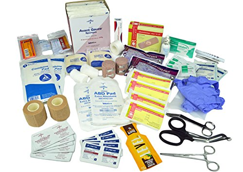 Lightning X Basic First Aid Responder EMT Medical Stocked Trauma Fill Kit LXSMK-A