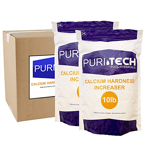 Puri Tech Pool Chemicals 20 lb Calcium Hardness Increaser Plus for Swimming Pools & Spas Increases Calcium Hardness Levels Prevents Staining on Surfaces