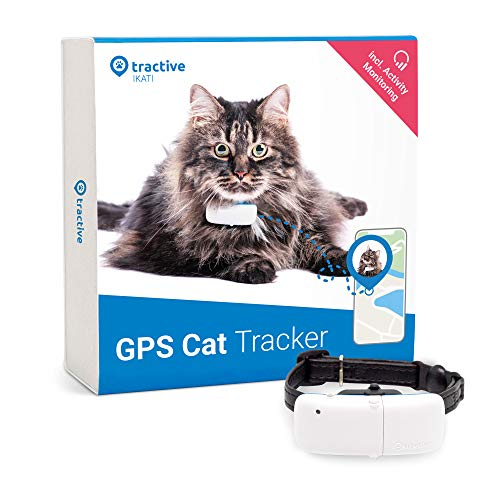 Tractive GPS Collar for Cats, Tracker with Unlimited Range, Activity Monitor, Waterproof