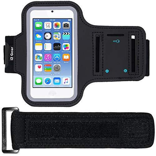 i2 Gear iPod Touch 6Th Generation (6G) Exercise & Running Mp3 Player Armband + Extender (Black)