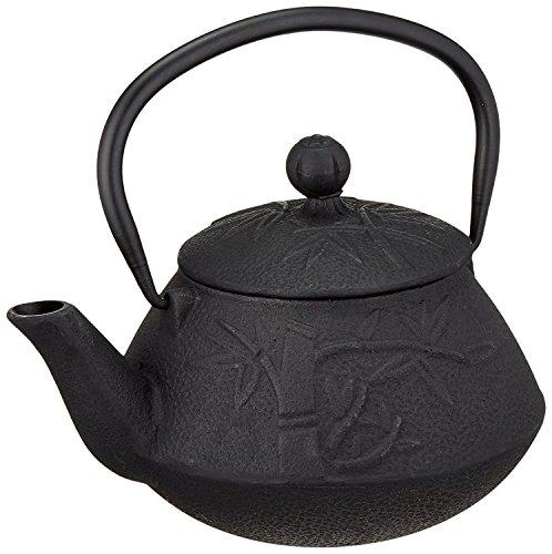 ExcelSteel Tree Design Cast Iron Teapot, Ebony