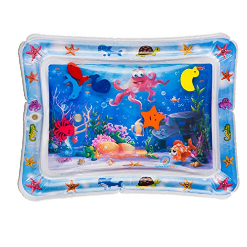 Splashin'kids Inflatable Tummy Time Premium Water mat Infants and Toddlers is The Perfect Fun time Play Activity Center Your Baby's Stimulation Growth