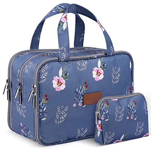 Travel Makeup Bag ETEREAUTY Large Cosmetic Bag with A Handy Makeup Pouch For Women Girls, Water-resistant Hanging Toiletry Bag for Cosmetics Makeup Brushes Toiletry Jewelry Digital Accessories