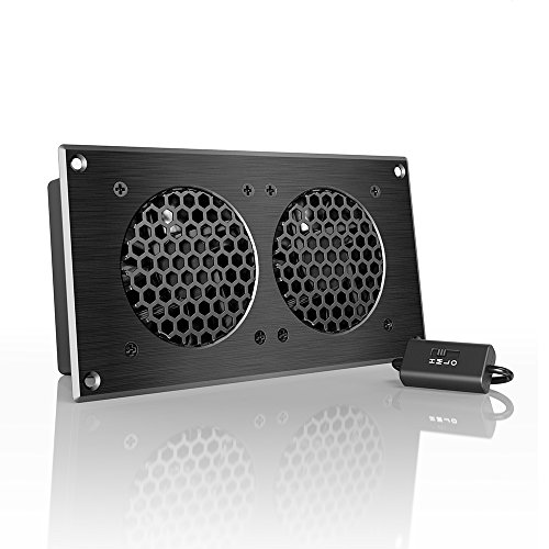 AC Infinity AIRPLATE S5, Quiet Cooling Fan System 8' with Speed Control, for Home Theater AV Cabinets