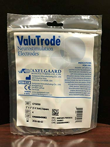 Axelgaard Valutrode # CF5050 2' x 2' Square Fabric Top Electrodes 4 per Pack - 10 Packs