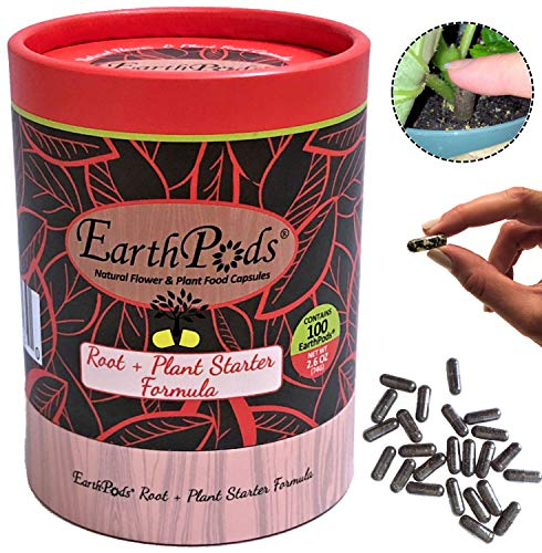 EarthPods Best Root Starter Fertilizer – Easy Organic Plant Food Spikes – 100 Capsules – Jump Start New Plantings, Seedling, Trees, Cuttings & Clones (Help Root Growth & Transplant Shock, Ecofriendly)