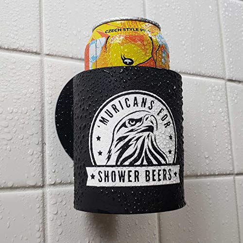 Muricans' for Shower Beers - Shower Beer Holder for in Shower Use, Keeps Beer Cold and Hands Free