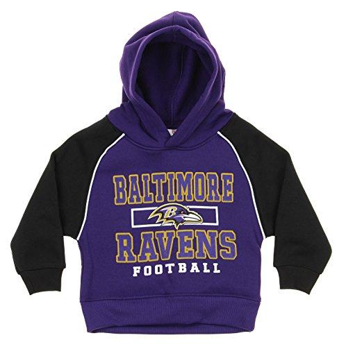 NFL Infant/Toddlers FLC Team Hooded Pullover Hoodie, Various Teams (Baltimore Ravens (Logo 2), 2T)