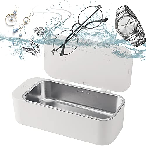 Jewelry Cleaner,Small Ultrasonic Cleaner,42kHz Professional Personal Portable Cleaning Silver/Jewelry/Eyeglasses/Rings/Necklaces/Coins/Razors/Brushes by IGOKOTI