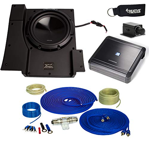 Alpine SBV-10-WRA 10-Inch Subwoofer for 2007-2018 Jeep Wrangler with MRV-M500 Amplifier, Wire kit and bass knob