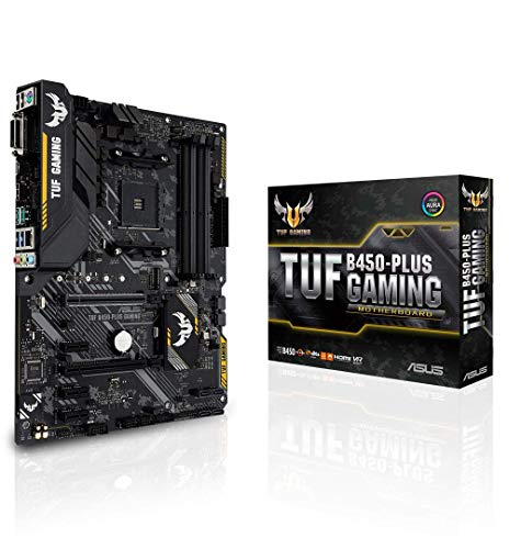ASUS TUF B450-PLUS Gaming AMD AM4 (3rd/2nd/1st Gen Ryzen ATX Gaming Motherboard(Digi+VRM, HDMI 2.0b,USB 3.1 Gen 2, Pre-Mount I/O Shield and Aura Sync RGB Lighting)