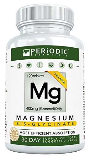 Chelated Magnesium Supplements Bisglycinate • Harvard Studied Absorption • Dual Glycinate Amino Acid Chelate 400mg • Best for Mg Deficiency • Non Laxative • Not Buffered • for Women & Men • USA Made