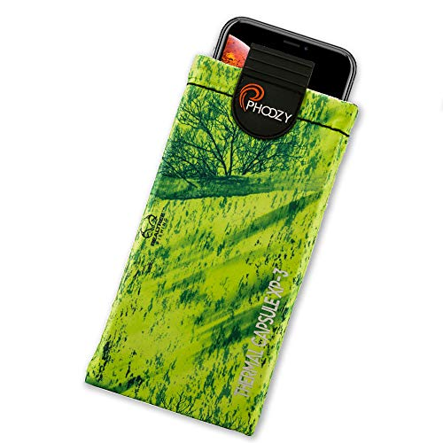 PHOOZY XP3 Series Ultra Rugged Thermal Phone Case - Insulated Weatherproof Phone Pouch Protects Against Cold & Extends Battery Life Stash Pocket MultiPoint Attachment System [Mahi Green - Large]
