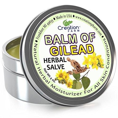 Creation Farm Balm of Gilead Salve - Large 4 Oz Tin - All Botanical Balm of Gilead Bud Ointment, Todos Bálsamo de Galaad pomada botánico