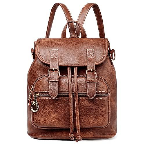 Women Mini Backpack Purse Small Cute Retro Leather Daypacks Convertible Casual Shoulder Bag