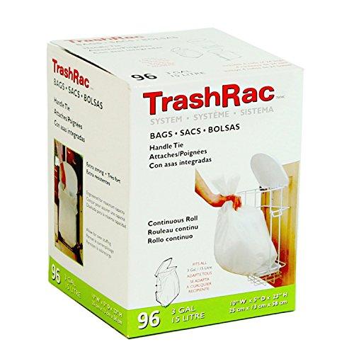 TRASHRAC 87096 96Ct 3 Gal Bag, Pack of 1, 96 Count