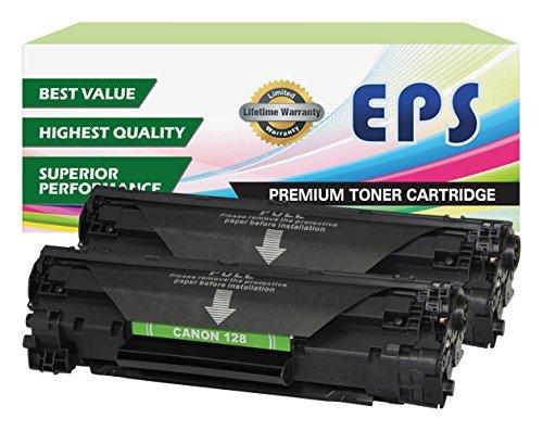 EPS Compatible Toner Cartridges Replacement for Canon 128 - 2pk