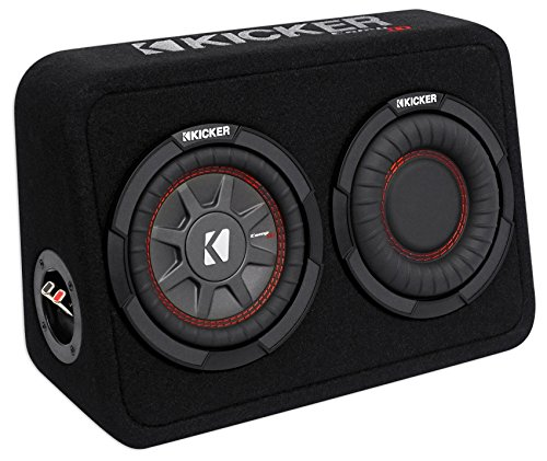 Kicker TCWRT674 CompRT 6.75' Subwoofer in Thin Profile Enclosure 4ohm 150W