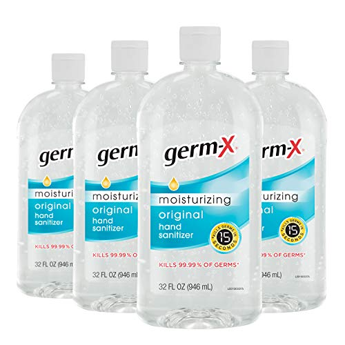 Germ-X Hand Sanitizer, Original, 32 Fl Oz (Pack of 4), 128 Fl Oz
