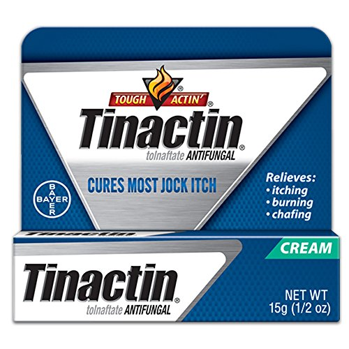 Tinactin Jock Itch Antifungal Cream for Body Fungus Treatment, Tolnaftate 1%, Used Daily Clinically Effective Treatment of Jock Itch, 0.5 Ounce (15 Grams) Tube