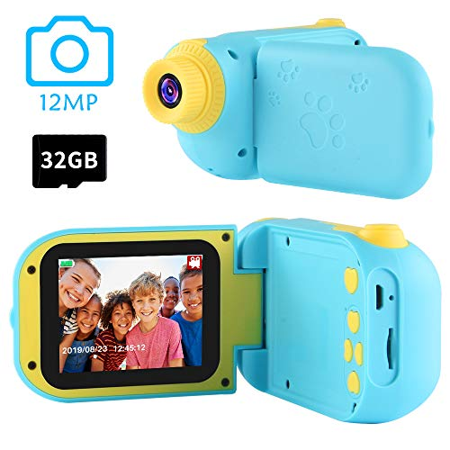 Gifts for Boys Age 4-10,OMWay Kids Digital Camera for Boys, Toys for Boys 4 5 6 7 8 Year Old, 12MP HD,Blue(32GB SD Card Included).