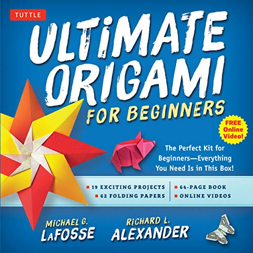 Ultimate Origami for Beginners Kit: The Perfect Kit for Beginners-Everything you Need is in This Box!: Kit Includes Origami Book, 19 Projects, 62 Origami Papers & Video Instructions