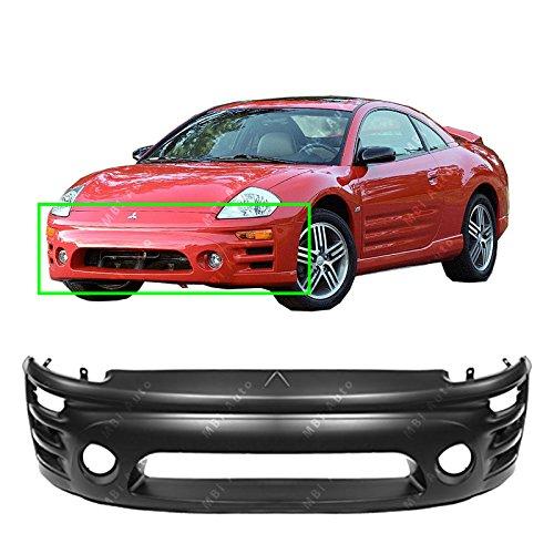 MBI AUTO - Primered, Front Bumper Cover for 2002 2003 2004 2005 Mitsubishi Eclipse, MI1000282